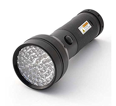 10. LEDwholesalers 395nM Ultraviolet Black light Flashlight, 51-LED, 7202UV395