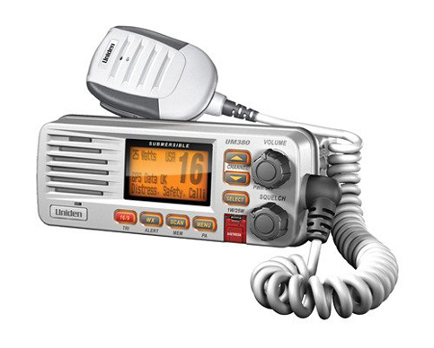 7. Uniden UM380 Fixed Mount Class D VHF Marine Radio