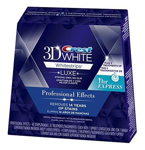 9. Crest 3D Luxe Whitestrips Teeth Whitening Kit (20 Treatments)