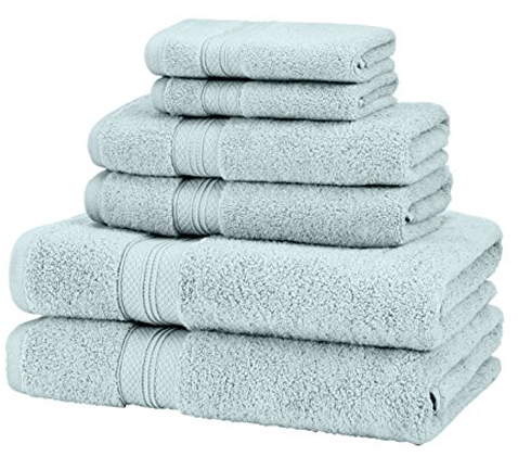 4. Pinzon Pima Cotton 6-Piece Towel Set