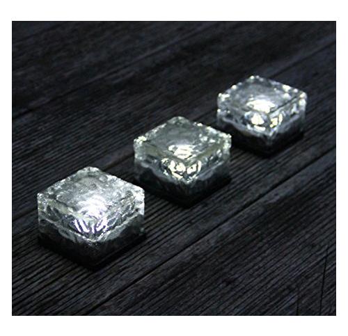 7. Frostfire Solar Ice Rocks Solar Path Lights (Set of 3)