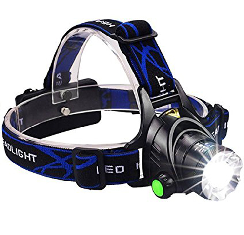 4. GRDE Zoomable 3 Modes LED Headlamp