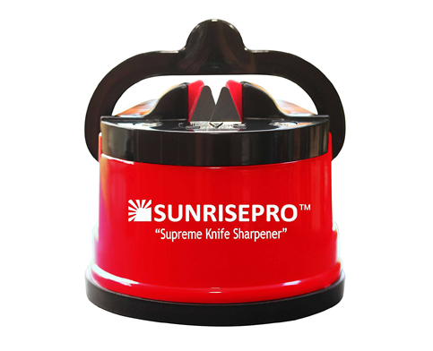 8. SunrisePro Knife Sharpener, USA patented, Original, Red