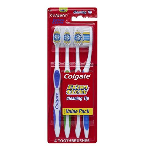 7. Colgate Extra Clean Full Head Toothbrush Medium-4count