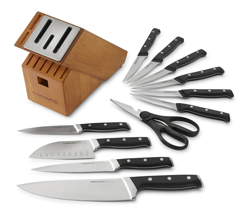 4. Calphalon 12 Piece Knife Block Set