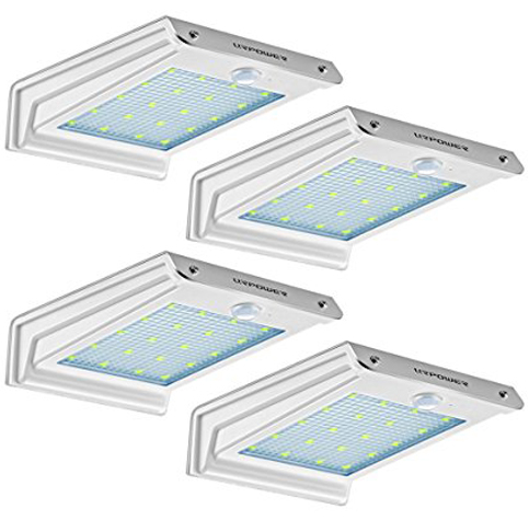 2. URPOWER 4Pack 20 LED Solar Motion Sensor Lights