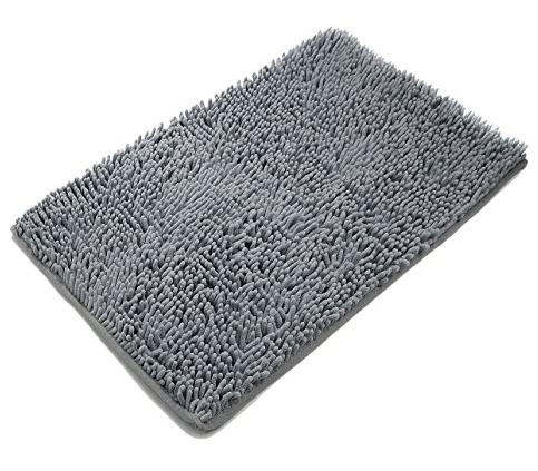 6. Domus Non-slip Microfiber Shag Bathroom Mat