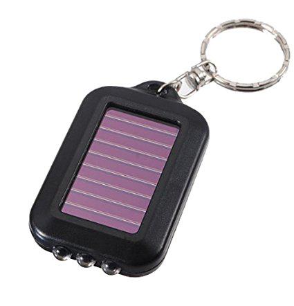 2. Leegoal 10Pcs Black LED Flashlight Keychain