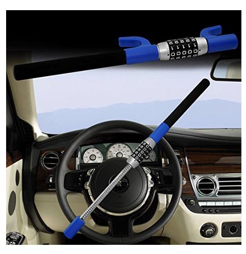1. Password Coded Twin Hooks Steering Wheel Lock