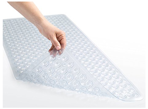 9. Gorilla grip Rectangle bath mat