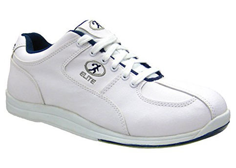 14. Elite Bowling Atlas White/Blue Bowling Shoes