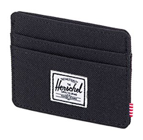 15. Herschel Men's Charlie Card Holder (Black)