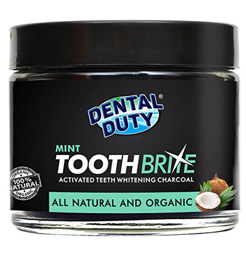 6. Dental Duty Natural Teeth Whitening Charcoal Powder