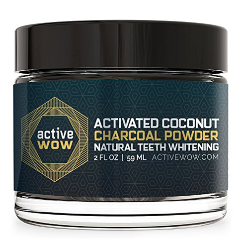 7. Active Wow Natural Teeth Whitening Charcoal Powder