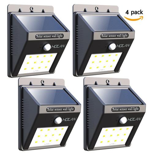3. lextreme 4 Pack 12 LED Solar Lights
