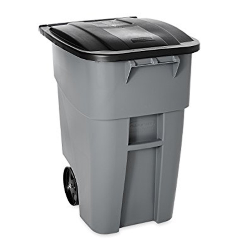 9. Rubbermaid Commercial Products 50 Gallon Rollout Trash Can