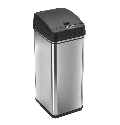 11. iTouchless 49 Liter/ 13 Gallon Stainless Steel Trash Can