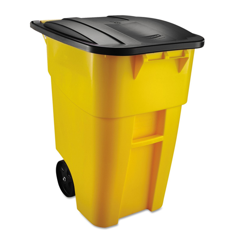 1. Rubbermaid Commercial Products 9W27YEL 50 gal Yellow Container