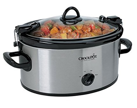 6. Crock-Pot 6-Quart Stainless Steel Slow Cooker
