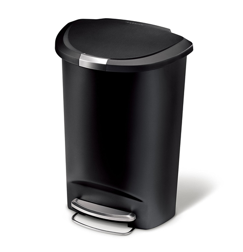 10. simplehuman 50 L/ 13 Gal Black Plastic Trash Can