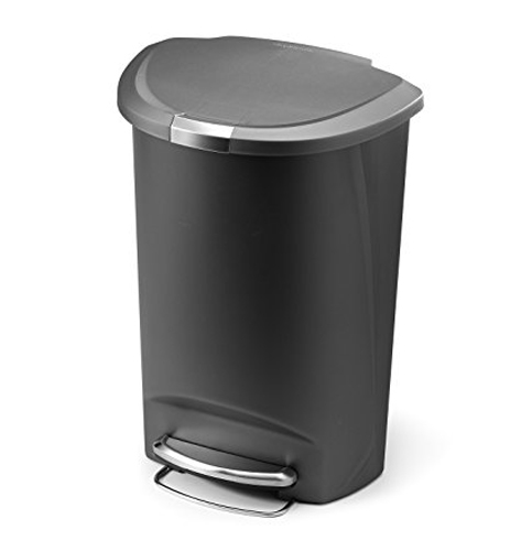 5. simplehuman 50 L / 13.2 Gal Grey Plastic Trash Can