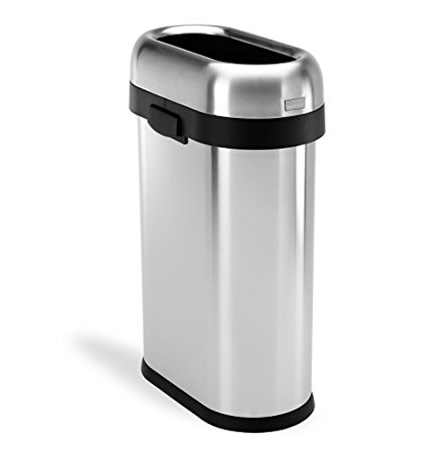 6. simplehuman 50 L / 13 Gal Stainless Steel Trash Can