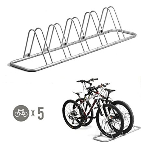 3. CyclingDeal 5 Bike Floor Parking Storage Stand
