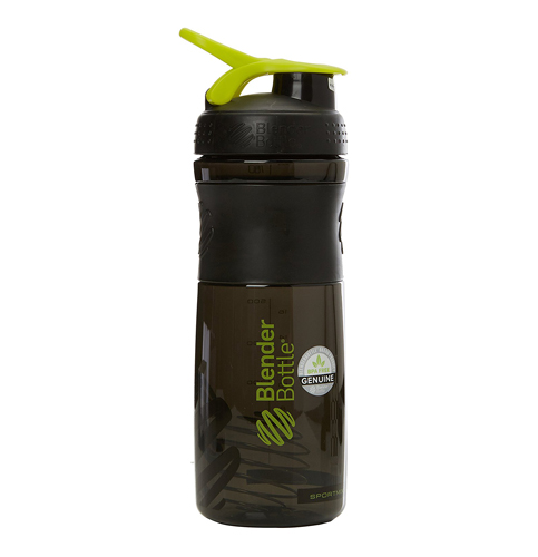 4. BlenderBottle Black/Green, 28-Ounce Shaker Bottle
