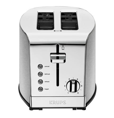 7. KRUPS KH732D Breakfast Set 2-Slot Toaster with Brushed and Chrome Stainless Steel Housing