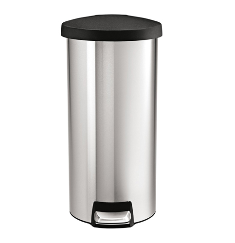 3. simplehuman 30 L / 8 Gal Round Step Trash Can