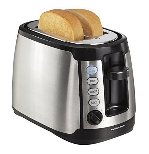 2. Hamilton Beach 22811 Keep Warm 2-Slice Toaster