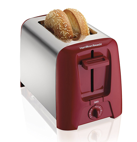 9. Hamilton Beach 22623 Cool Wall 2-Slice Toaster