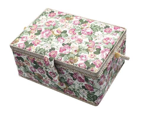 2. Generic Vintage Floral Print Sewing Basket