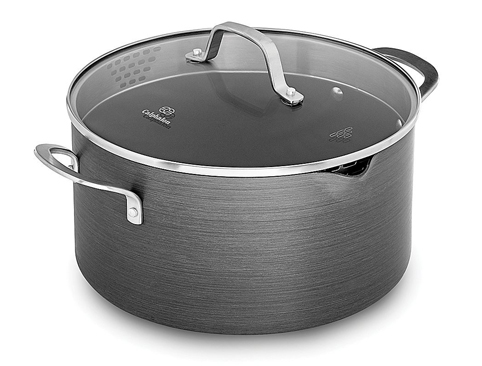 5. Calphalon 7 quart Grey Dutch Oven with Cover