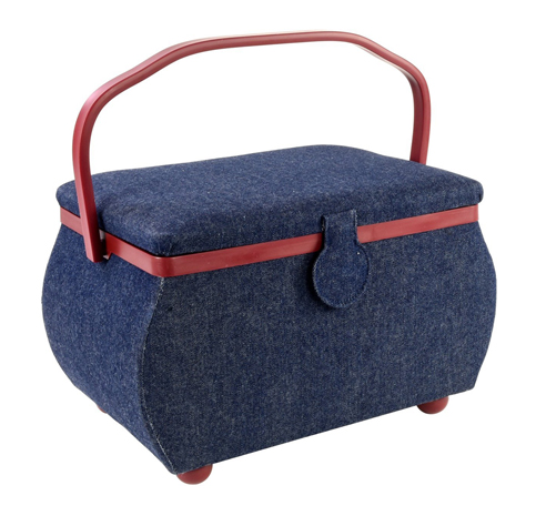 1. PRYM Sewing Basket W/ Red Trim