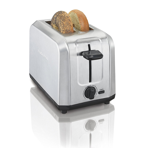 10. Hamilton Beach 22910 Brushed Stainless Steel 2-Slice Toaster