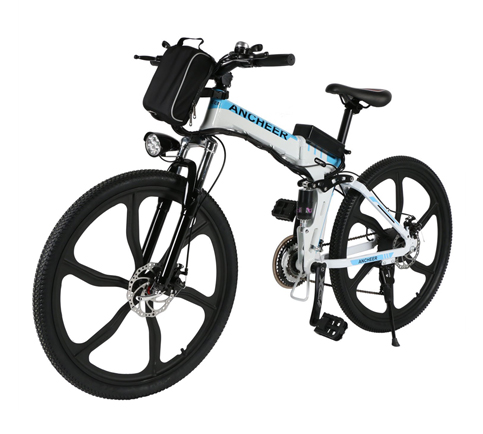 4. ANCHEER Folding Electric Mountain Bike