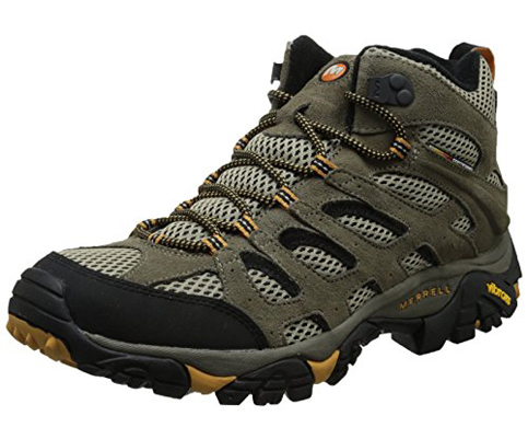 10. Merrell Men's Moab Ventilator Mid Hiking Boot