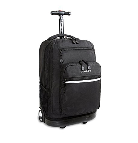 8. J World Sundance 19.5 in. Laptop Rolling Backpack