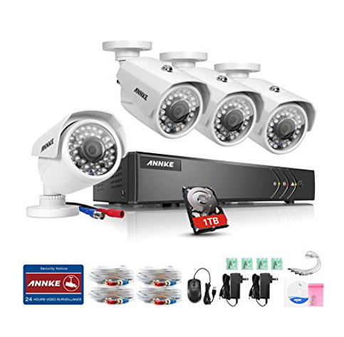 10. ANNKE Security Camera System 8-Channel 1080P Late Video DVR