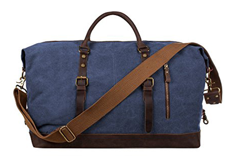 9. S-ZONE Oversized Canvas Duffel Shoulder Bag