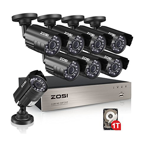 8. ZOSI 8-Channel 1080N HD Video Security System CCTV DVR 1TB Hard Drive