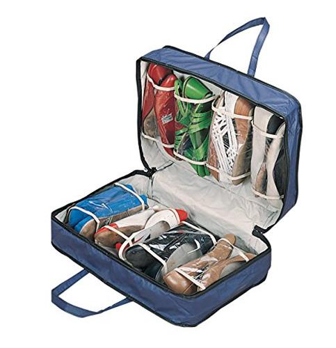 2. WalterDrake Blue Shoe Storage Travel Bag