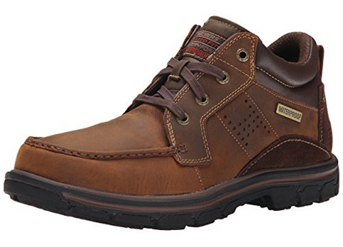 10. Skechers Men's Segment Melego Leather Chukka Boots