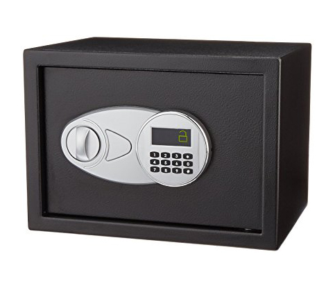 10. AmazonBasics Security Safe (0.5-Cubic Feet)