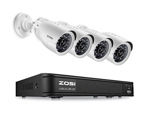 7. ZOSI 8-Channel 720P CCTV Security Camera System