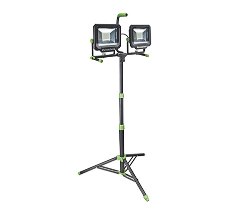 2. PowerSmith Two-Head LED Work Light (PWL21100TS)