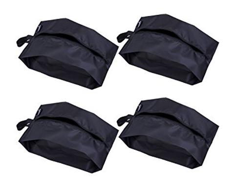 10. Misslo Portable Nylon Travel Shoe Bags black color