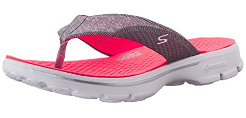 10. Skechers Performance Women's Go Walk Pizazz Flip-Flop