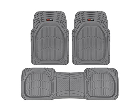 6. Motor Trend FlexTough Contour Liners - Floor Mats in Gray